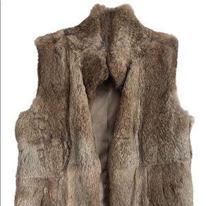 Michael Kors chic tan rabbit fur vest in Large